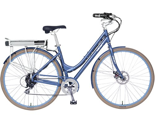 E3 Path Step-thru - Electric Bicycles (Light blue)