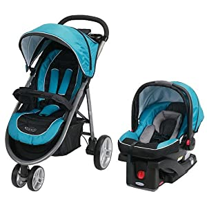 Graco Aire3 Click Connect Travel System, Poseidon