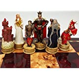 King Arthur / Sir Lancelot Medieval Times Camelot Chess Men Set- NO BOARD
