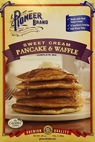 Pioneer Brand Sweet Cream Pancake and Waffle Complete Mix ~ 80 oz (Pioneer Pancake Mix compare prices)