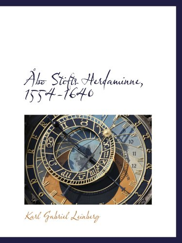 Åbo Stifts Herdaminne, 1554-1640