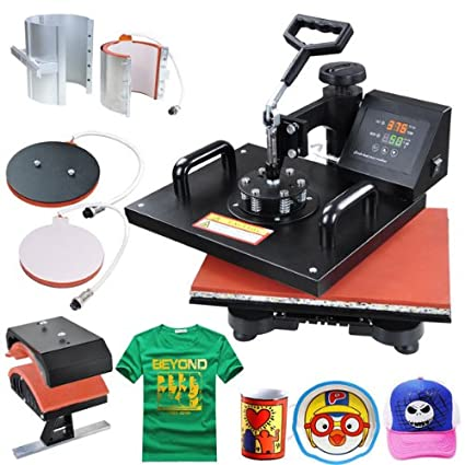 5 in 1 Black Heat Press Transfer Sublimination Machine