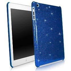 BoxWave Apple iPad mini Glamour & Glitz Case - Sleek Form-Fitting Protective Shell Case w/ Sparkly Glitter Design - iPad mini Cases and Covers (Sapphire Blue)