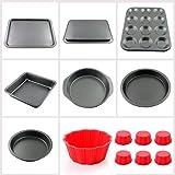 iClover Classic Non-stick Kitchen Bake 13-Piece Bakeware Set, baking set