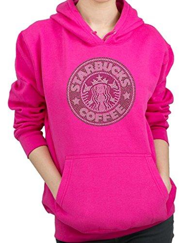 STARBUCKS Rhinestone Design Hoodie Sweatshirt