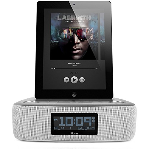 ihome idl44 lightning dock dual clock radio with usb charge play for iphone 5 5s 6 6plus all. Black Bedroom Furniture Sets. Home Design Ideas