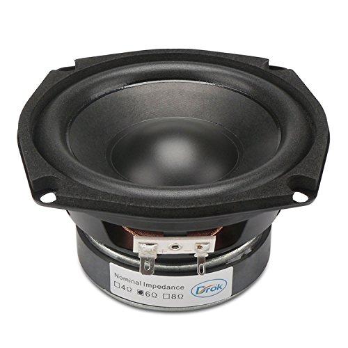 DROK-Einzel-Magnetic-40W-HIFI-Subwoofer-Lautsprecher-6-45-Zoll-Lautsprecher-mit-Super-Low-Bass-Startseite-Woofer-Stereo-Lautsprecher-mit-87dB-hohe-Empfindlichkeit-Tiefer-Lautsprecher-Phile-Lautspreche