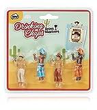 NPW-USA The Original Drinking Buddies Cocktail/Wine Glass Markers, Drinking Chaps Cowboy Buddies