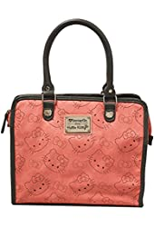 Loungefly Hello Kitty Pink & Grey Perforated Tote