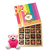 Valentine Chocholik Premium Gifts - Great Collection Of Truffles And Chocolates Gift Box With Teddy