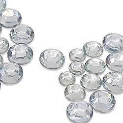 TOAOB Crystal Clear Flat Back Loose Acrylic Round Rhinestones 3mm 4mm 5mmPack of 6000pcs