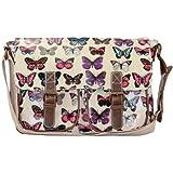 New Girly HandBags Celebrity Designer Butterfly Print Cross Body Satchel Bag