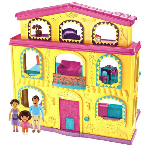 Fisher-Price Dora The Explorer: Playtime Together Dora and Me Dollhouse - 1