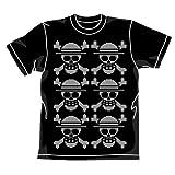 ワンピース 麦わらドクロニット風Tシャツ ブラック サイズ:M