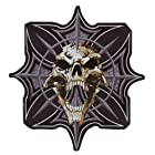 Lethal Threat Gothic Skull and Cross Embroidered Patch