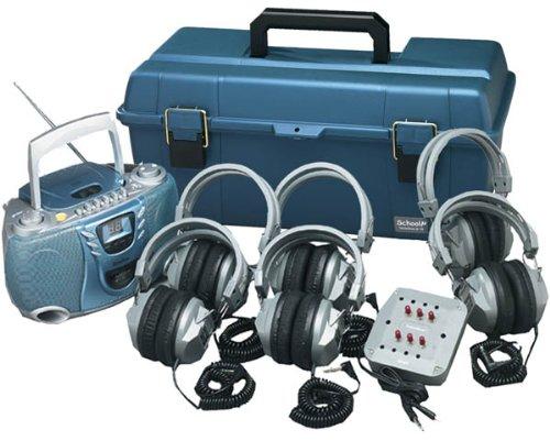 6-Person Val-U-Pak Listening Center Cd/Cassette/Am/Fm Player W/Ha5 Headphones, Jackbox, And Case