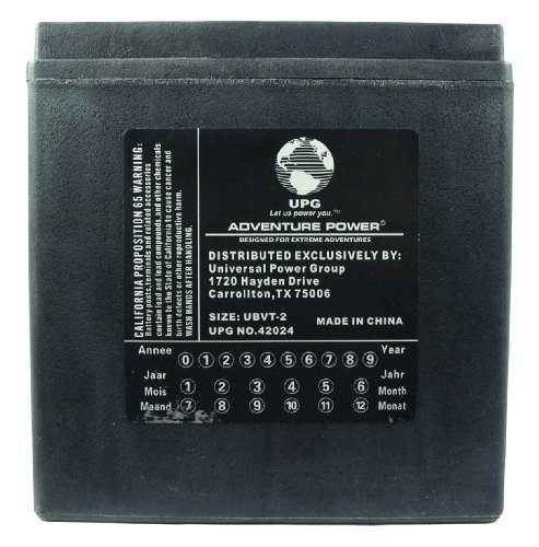 UPG UBVT-2 Adventure Power V-Twin Battery