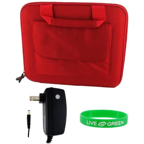 Dell Inspiron Mini IM10 2867 10.1 Inch Netbook Cube Carrying Case with Wall Charger   Red