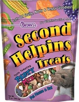 Second Helpins Party Mix Rat & Mouse Food, 10 ounces