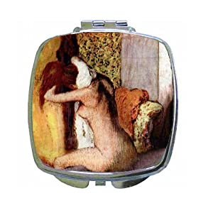 After Bathing #2 By Edgar Degas Compact Mirror