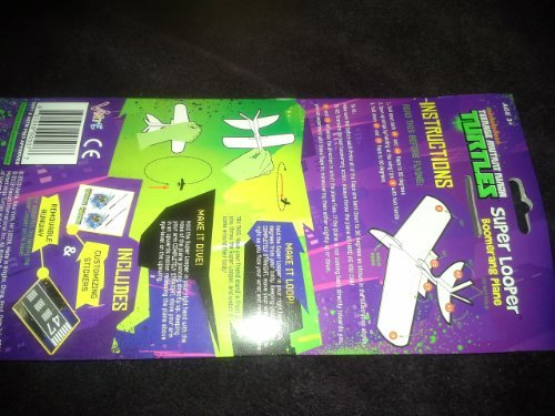 Nickelodeon Teenage Mutant Ninja Turtles Super Looper Boomerang Plane Leonardo