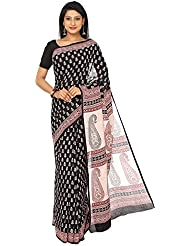 Kalakari India - Finest Quality Cotton - Handmade Red, White And Black Booti With Bold Prints - Bagh Block Print...
