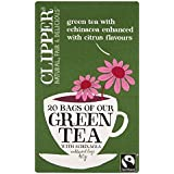 Clipper Citrus & Echinacea  Green Tea 20 Teabags (Pack of 6, Total 120 Teabags)