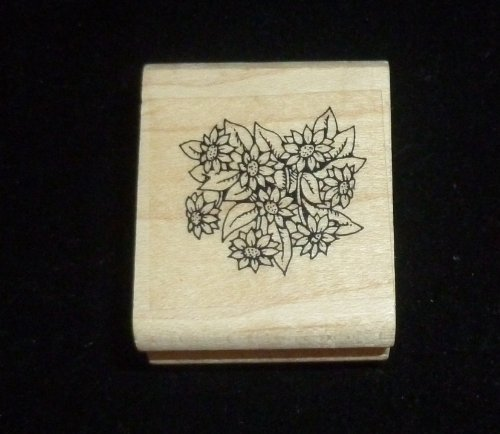 Flower Patch Rubber Stamp