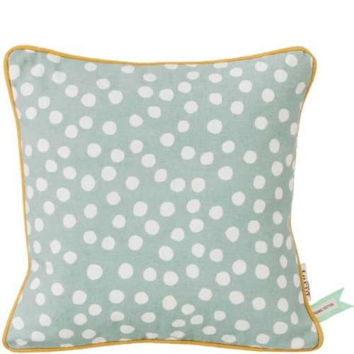 Dots Cushion – Dusty Blue