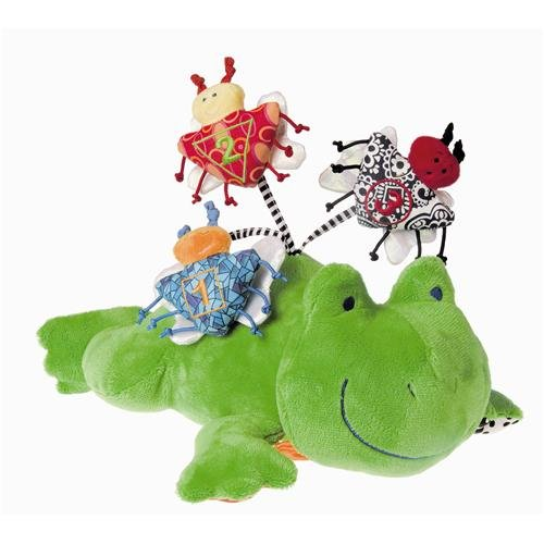 Mary Meyer Brainy Baby Fun Time Activity Plush Toy, Frog
