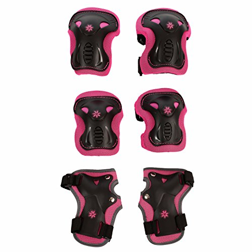 Fantastic Deal! High Bounce Knee Pads and Elbow Pads with Wrist Guards Protective Gear Set for Bikin...
