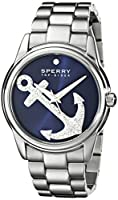 Sperry Top-Sider Women's 10018656 Audrey Anchor Analog Display Japanese Quartz Silver Watch from Sperry Top-Sider Watches MFG Code