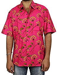 Indian Beach Shirts Cotton Printed Fashion Accessory For Men Comfortable Airy