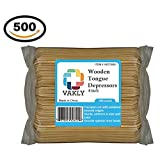 Vakly Wooden 6 inch Tongue depressors (Pack of 500)