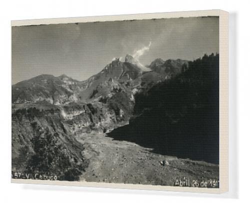 Canvas Print of Chile - Calbuco Volcano