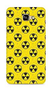 Amez designer printed 3d premium high quality back case cover for Samsung Galaxy A9 (Pattern yellow radioactive)