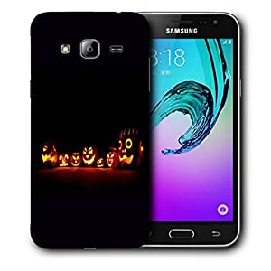 Snoogg Halloween Faces Designer Protective Back Case Cover For SAMSUNG GALAXY J3/J3 2016 J310