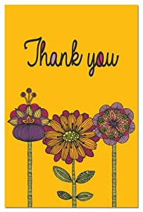 Tree-Free Greetings 94620 ECOnotes Thank You Card Set, 4 x 6 Inches, 12 Count Cards with Envelopes, Abundant Thanks