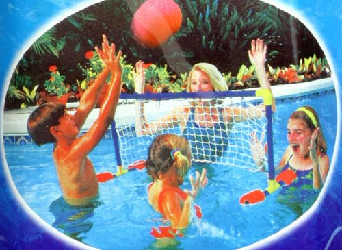 Schwimmtor Pool Volleyballnetz Volleyball Spiel mit Ball