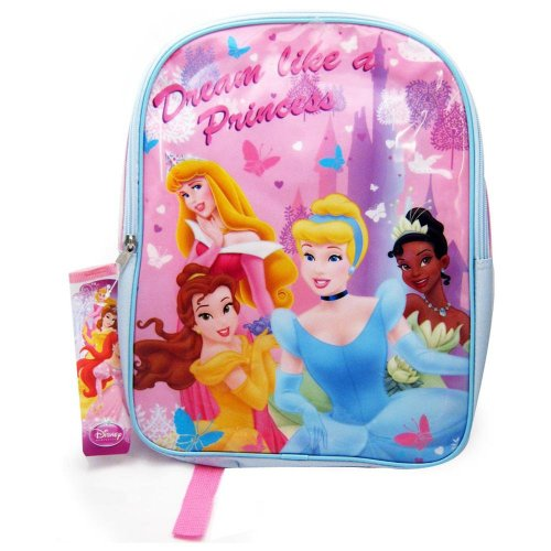 "Disney Princess 15"" Girls Backpack School Bag - 1"