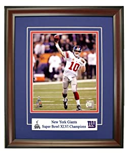 The New York Giants Eli Manning During Super Bowl 46 Framed 8x10 Photograph
