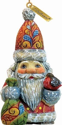 G.Debrekht 651827 General Holiday Bag of Joy Santa Ornament 3 in.