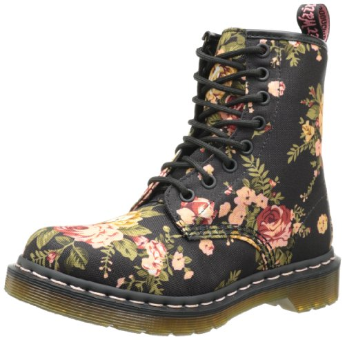 Dr. Martens Women's 1460 Re-Invented Victorian Print Lace Up Boot,Black Victorian Flowers,6 UK (8 M US Womens)