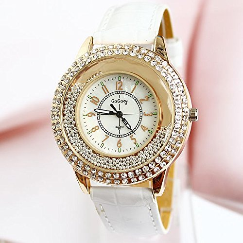 17 White Europe And The United States Hot Fashion Candy Color Inlaid Diamond Quicksand Female Watches