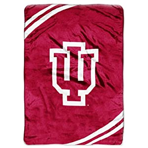 NCAA Indiana Hoosiers Force Royal Plush Raschel Throw Blanket, 60x80-Inch by Northwest