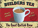 BUILDERS TEA Metal Advertising Sign (LARGE 400mm X 300mm)
