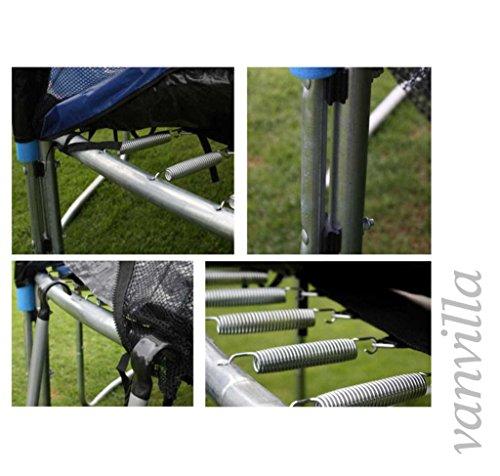 trampolin in verschiedenen gr ssen inkl leiter regenschutz sicherheitsnetz gartentrampolin. Black Bedroom Furniture Sets. Home Design Ideas