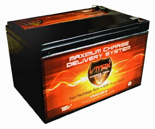 Vmaxmb64 Agm Deep Cycle Battery Replacement For Bladez Hgl12-12 12V 15Ah Scooter Battery