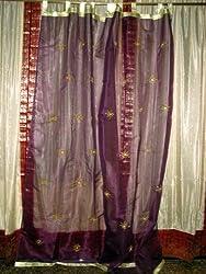 mogul interior designs moroccan decor silk sari curtain panels