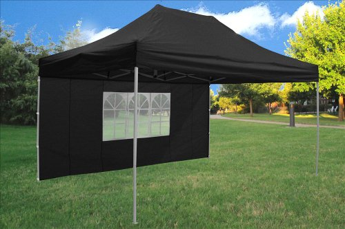 10X15 Pop Up 4 Wall Canopy Party Tent Gazebo Ez Black - Upgraded Frame By Delta Canopies front-92919